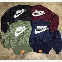 Bomber jackets cotton-padded jacket coat female air force couples(4-style/3-color)
