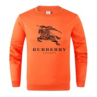 Burberry 2019 new wild casual round neck long-sleeved sweater Orange