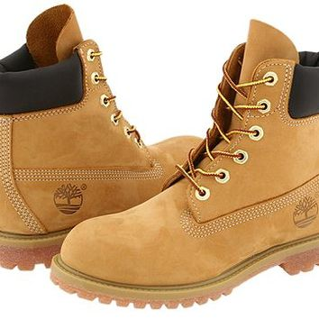 "Timberland 6"" Premium Boot Wheat Nubuck - Zappos.com Free Shipping BOTH Ways"