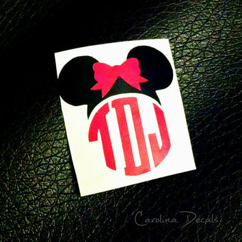 Mickey Mouse Monograms Minnie Mouse Monograms Disney Magic Band Monograms Disney Decals Mickey Mouse Car Decal Minnie Mouse Car Decal Disney