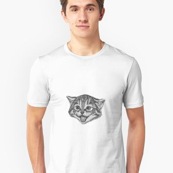 'Happy Cat' T-Shirt by Gamerama