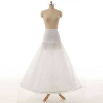 Hoop A Line Bone Petticoats For Wedding Dress Wedding Skirt Accessories Slip With Lace Trim