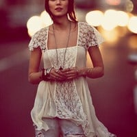 Free People On A Whim Lace Top