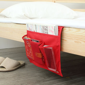 Novelty Disktopside Bedside Pocket Bed Organizer Hanging Bag For Phone Book Magazine Holder