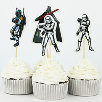 24pcs The Star Wars  Cupcake Topper Picks,birthday/wedding party decorations,kids evnent party favors,Party decoration