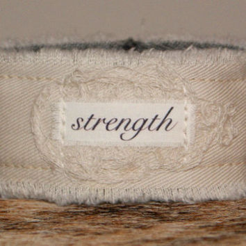 Strength Bracelet Cuff Inspirational Jewelry ID Bracelet Personalized Jewelry Christmas Gift