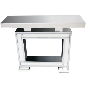 Elegant Gray Console Table - Benzara