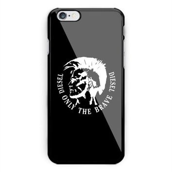 Diesel Only the brave Logo iPhone 6 6s 7 8 X Plus Hard Plastic Case