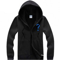 E.T. The Extra-Terrestrial Geek Zipper Hoodie for Men or Women Black - L