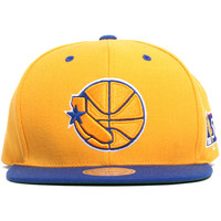Golden State Warriors NBA 50th Anniversary Snapback Hat Gold