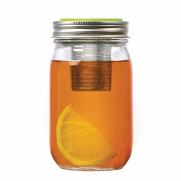 Jarware Mason Jar Re-Purposing Loose Leaf Tea Infuser Lid - Fits Regular Mouth Jars