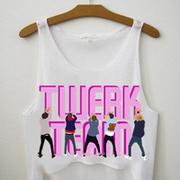 One Direction Twerk Team Crop Top by SmilerStore on Etsy