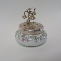 Vintage Powder Jar, Music Box, Western Germany, K & A Krautheim