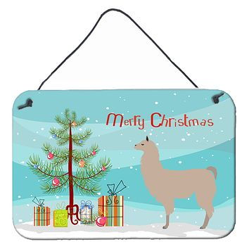 Llama Christmas Wall or Door Hanging Prints BB9283DS812