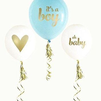 12inch It's A Boy and It Is A Girl Baby Shower Latex Balloons for Baby Shower Birthday Party Decoration Supplies