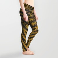 Gold Knight Medieval Geometric Pattern Leggings by Webgrrl