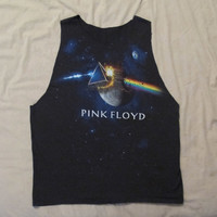 Women's Pink Floyd Muscle Tee Black Dark Side of the Moon Band Shirt Tank Top T-shirt Shirt Dress
