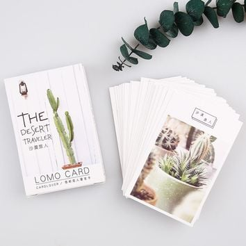 28 pcs Desert Traveler Plant Greeting Card