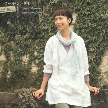 Tunic, Blouse, One-Piece Dress for All Season - Japanese Sewing Pattern Book for Women Clothing - Pochee Special, Easy Sewing Tutorial, B844