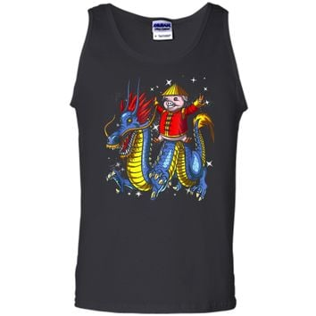 Chinese New Year 2019 Pig Riding Dragon Gift Tank Top