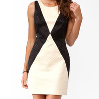 Contrast Jacquard Dress
