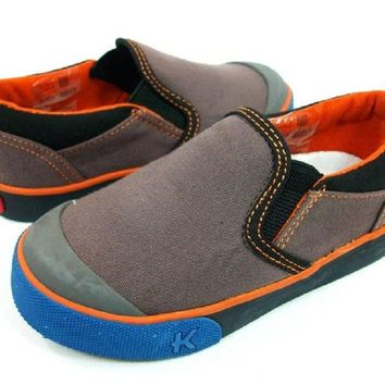 Boys See Kai Run Slip On Casual Loafers KAI River-Gray