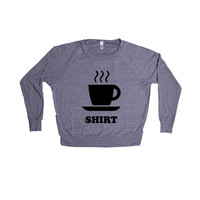Tea Shirt Teas Drink Drinks Drinking Herbs Tea Leaves Funny Pun Puns Play On Words Joke Jokes SGAL9 Women's Raglan Longsleeve Shirt
