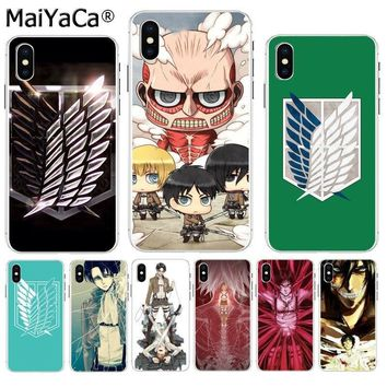 Cool Attack on Titan MaiYaCa Anime Japanese  Soft TPU silicone High Quality Phone Case for iPhone 8 7 6 6S Plus X XS max 10 5 5S SE XR AT_90_11