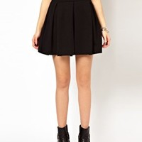 River Island Skirt With Box Pleats at asos.com