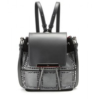 Luckyl fringed suede and leather shoulder bag