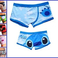"Sexy Cute Man's Cartoon Stitch Boxers Briefs Trunks Underwear Size L Waist 26.5""-30.5"""