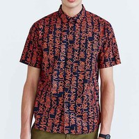Stussy Cities Short-Sleeve Button-Down Shirt - Navy