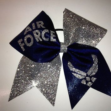 Air Force Cheer bow