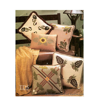MISSION PILLOW PATTERNS Arts & Crafts Style Felt Pillow Covers Vogue 7599 UNCuT Craft Sewing Patterns Home Gift Ideas
