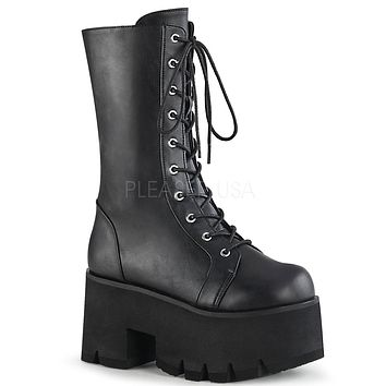 Ashes Chunky Platform Mid-Calf Boot
