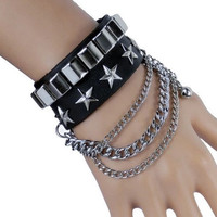 Soft Leather Bracelet with Rivet Women Jewelry Bangle Fashion Bracelet, Men bracelet X050-BL