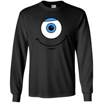 Disney Monsters Inc. Mike Eye Smile Graphic T-Shirt G240 Gildan LS Ultra Cotton T-Shirt