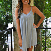 Time of Our Lives Tank Dress - Gray