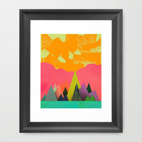 Mountain Town Framed Art Print by Amelia Senville