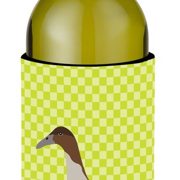 Dutch Hook Bill Duck Green Wine Bottle Beverge Insulator Hugger BB7687LITERK