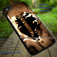 Supernatural Burning Map iPhone 6s 6 6s+ 5c 5s Cases Samsung Galaxy s5 s6 Edge+ NOTE 5 4 3 #movie #supernatural #superwholock #sherlock #doctorWho dt