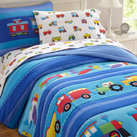 Olive Kids Trains, Planes, Trucks Twin Comforter Set - 11410