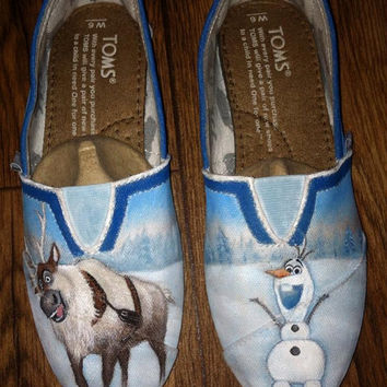 Custom Hand Painted Shoes - Frozen