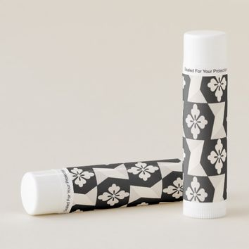 Black White Tiles Lip Balm