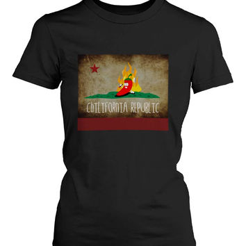 Funny Graphic Statement Womens Black T-shirt - Chilifornia Republic