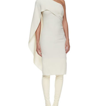 Ralph Lauren Collection Marguerite Draped One-Shoulder Dress