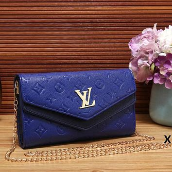 Perfect Louis Vuitton Women Fashion Leather Chain Satchel Shoulder Bag Handbag Crossbody