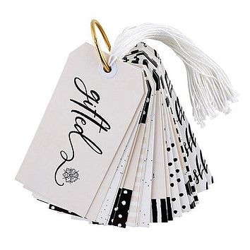 Modern Holiday Gift Tag Book