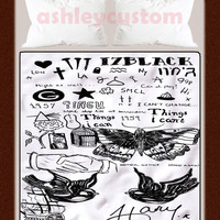 """Harry Styles Tattoo High Quality Blanket 58"""" x 80""""Inch Exclusive Design"""