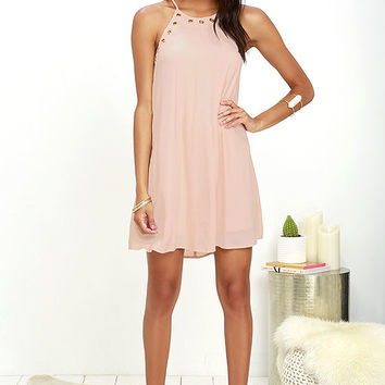 Flawless and Grommet Blush Swing Dress